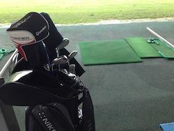 ゴルフ練習→カニ
