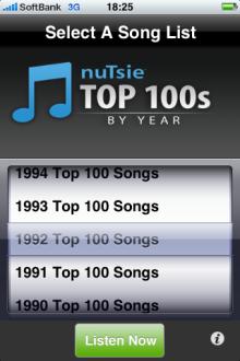 [メモ]iPhoneアプリ「Top100s by Year」