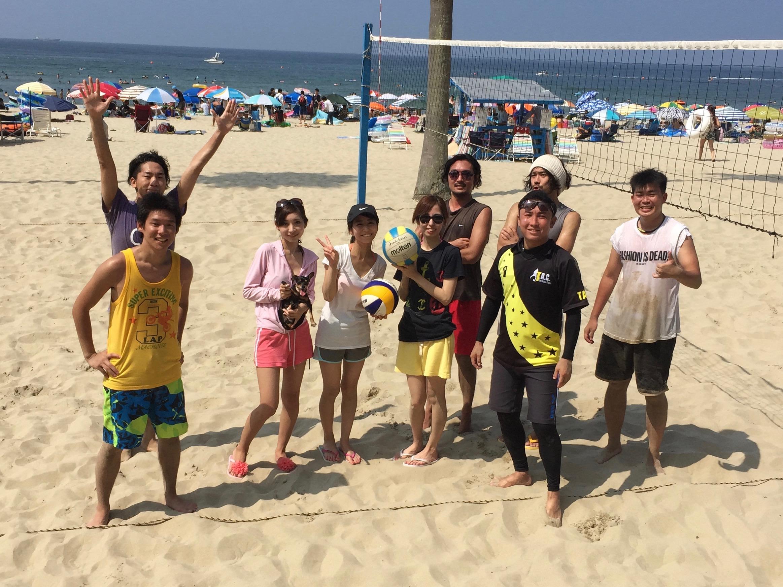 久々のビーチバレー
