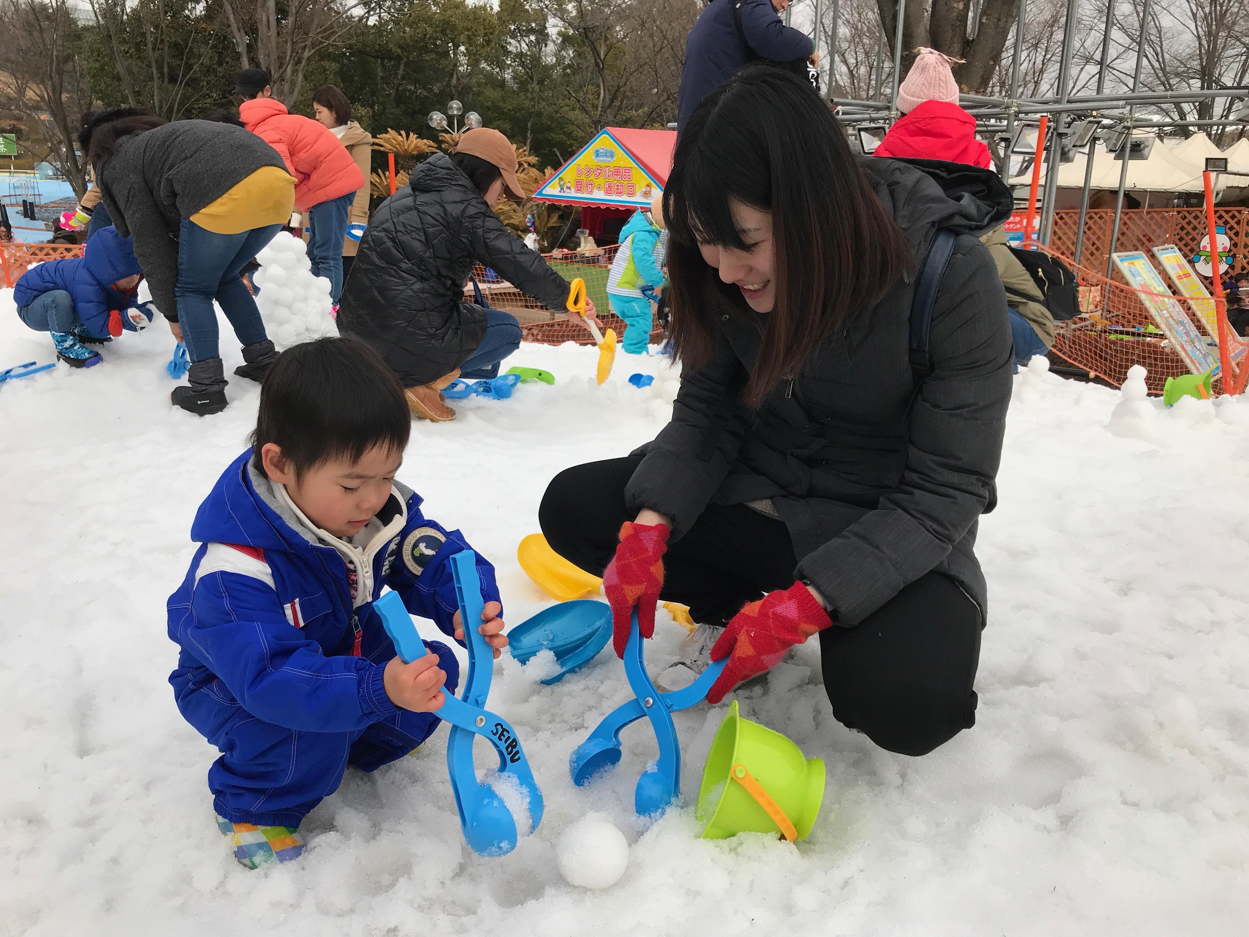 雪遊び inさいたま