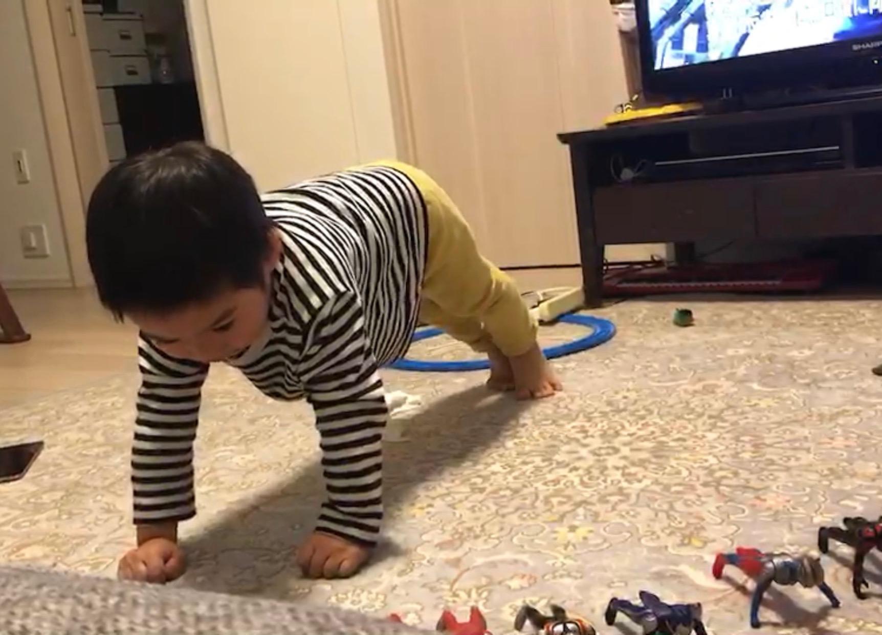 息子のトレーニング