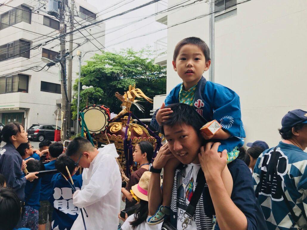 大崎でお祭り
