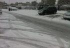 雪の中をドライブ