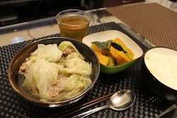 ロールキャベツスープ&かぼちゃ煮物