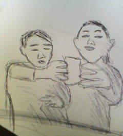 寝坊した~(><)