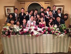 國本先輩の結婚式