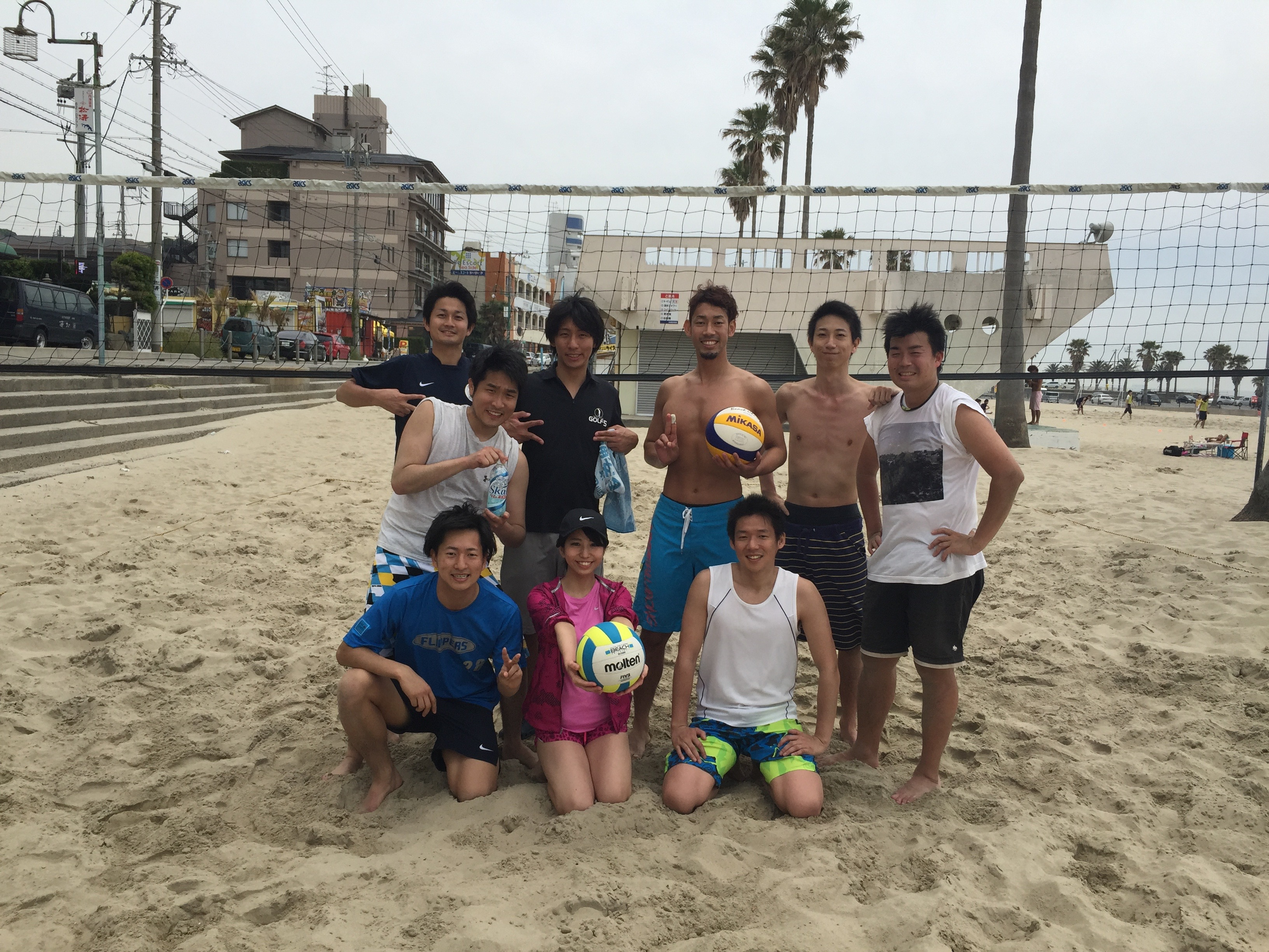 今年2回目のビーチバレー部