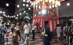 大崎ニューシティで盆踊りに参加