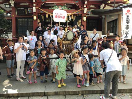 居木神社のお神輿祭りに参加