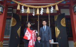 居木神社でお宮参り