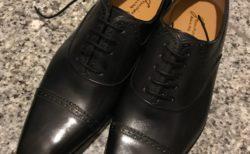 新しい革靴デビュー