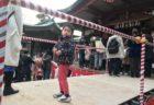 品川神社で豆まき&お菓子まき