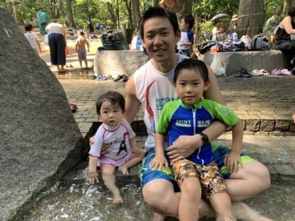 真夏の公園遊び @林試の森公園